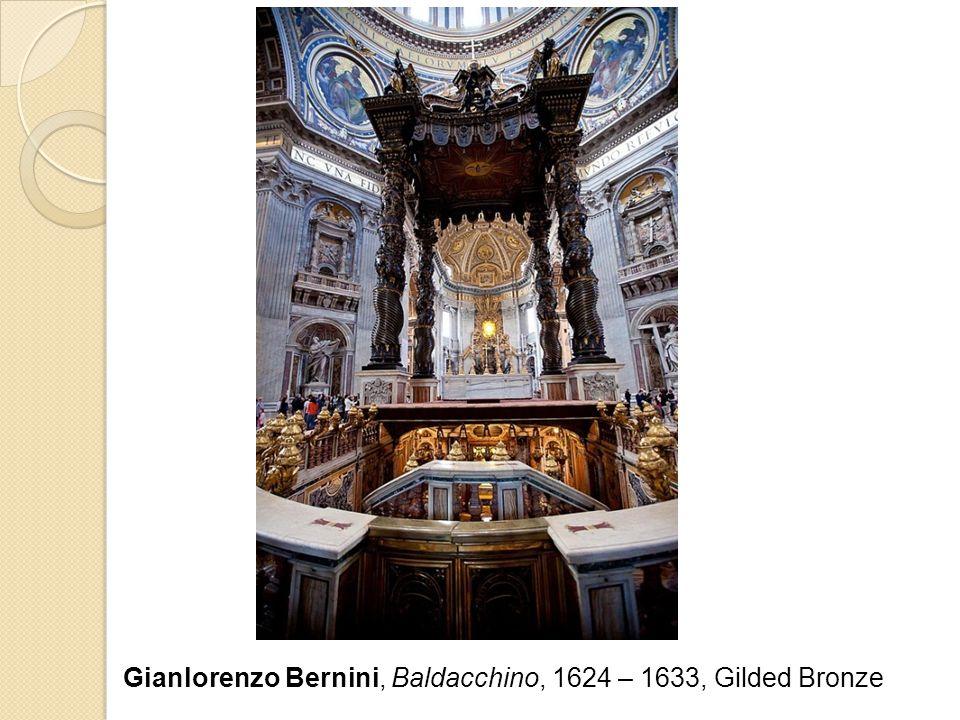 Gianlorenzo Bernini, Baldacchino, 1624 – 1633, Gilded Bronze