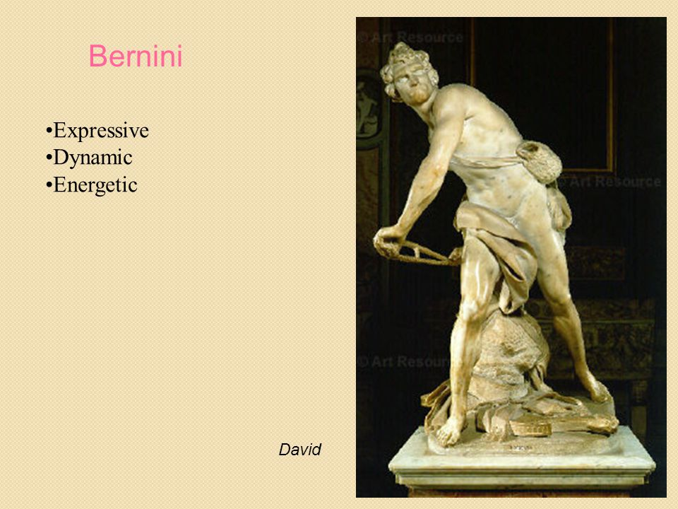 Bernini Expressive Dynamic Energetic David