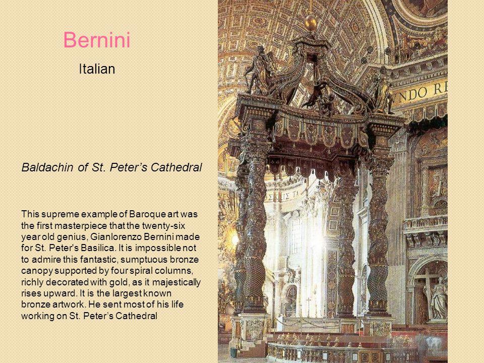 Bernini Italian Baldachin of St. Peter's Cathedral