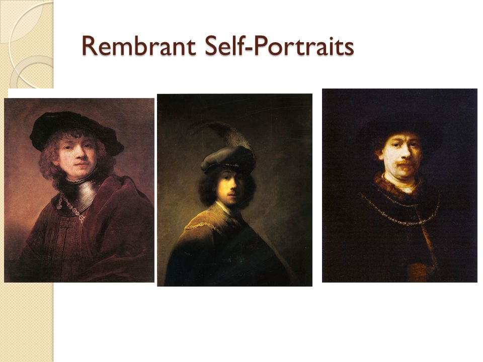 Rembrant Self-Portraits