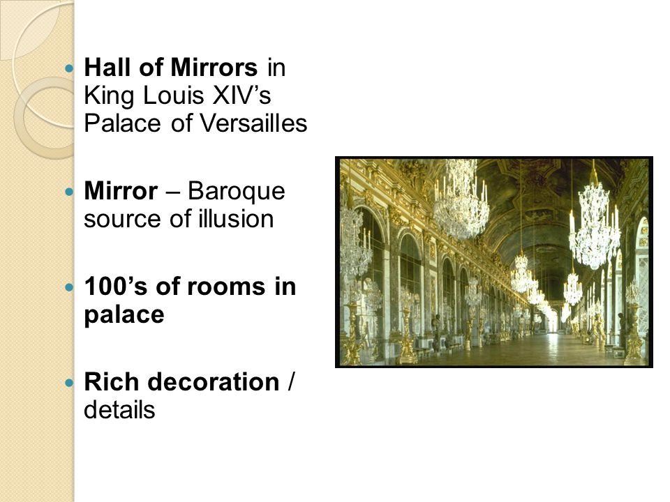 Hall of Mirrors in King Louis XIV's Palace of Versailles