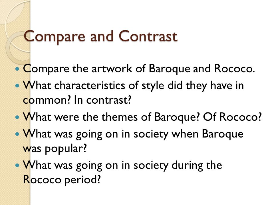 baroque and rococo 17th and 18th century ppt video