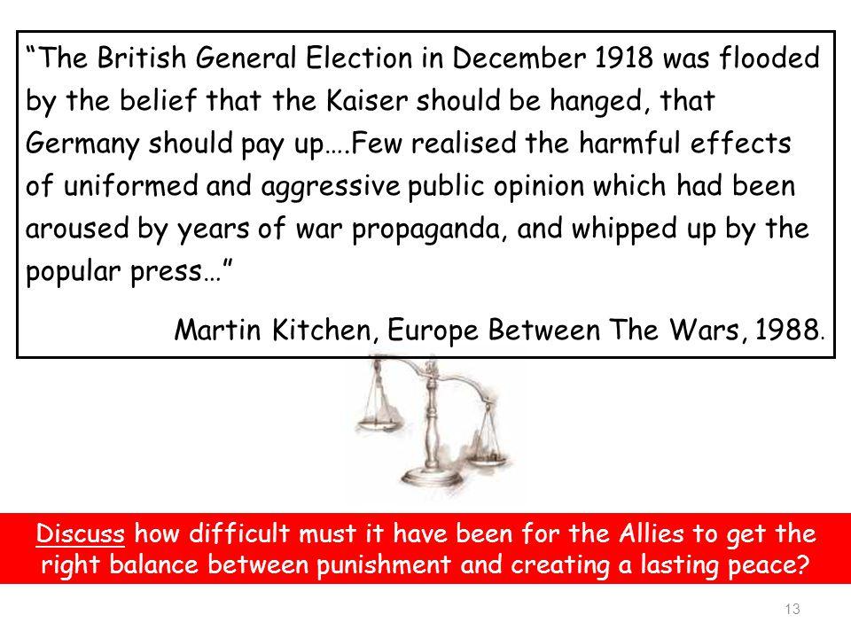 Martin Kitchen, Europe Between The Wars, 1988.
