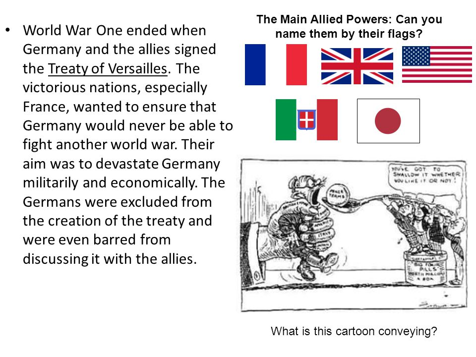 The Main Allied Powers: Can you name them by their flags