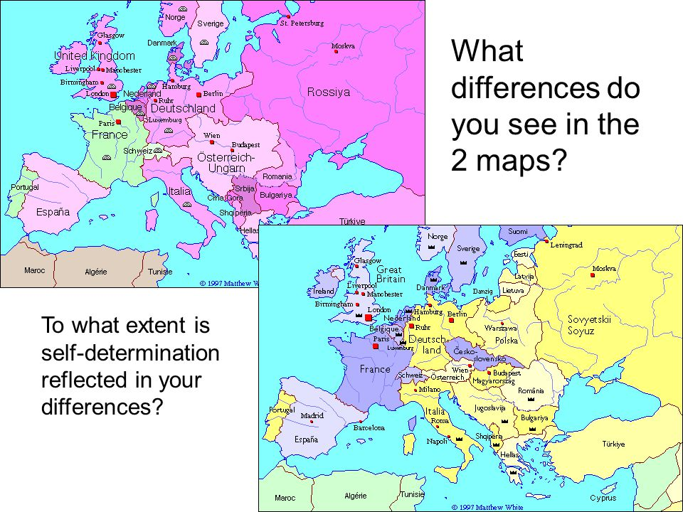 What differences do you see in the 2 maps