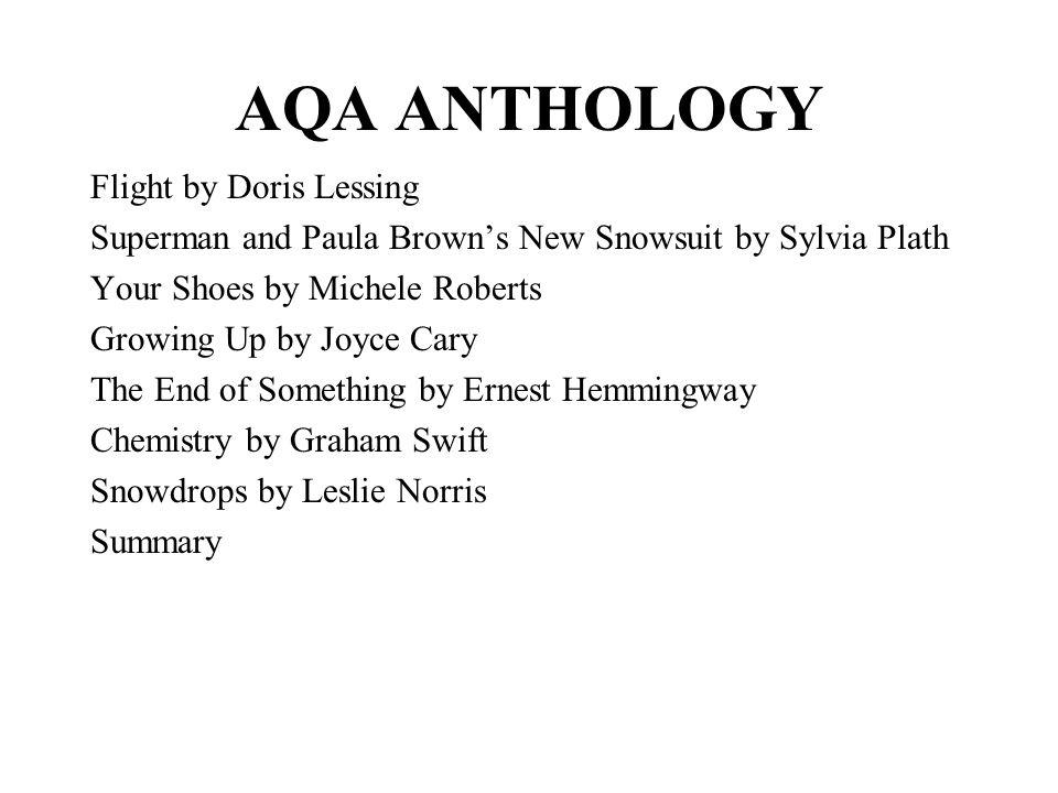 AQA ANTHOLOGY Flight by Doris Lessing