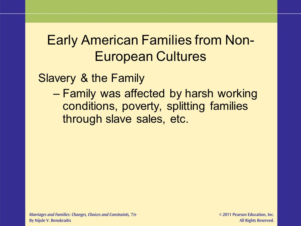 Early American Families from Non-European Cultures