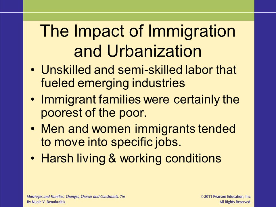 The Impact of Immigration and Urbanization