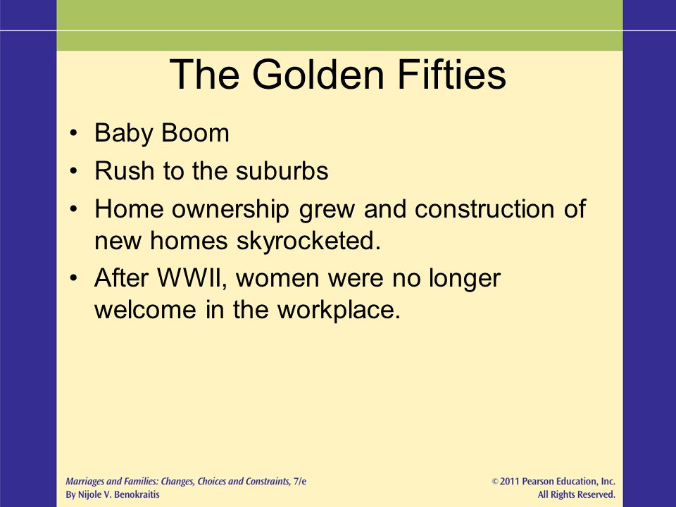 The Golden Fifties Baby Boom Rush to the suburbs