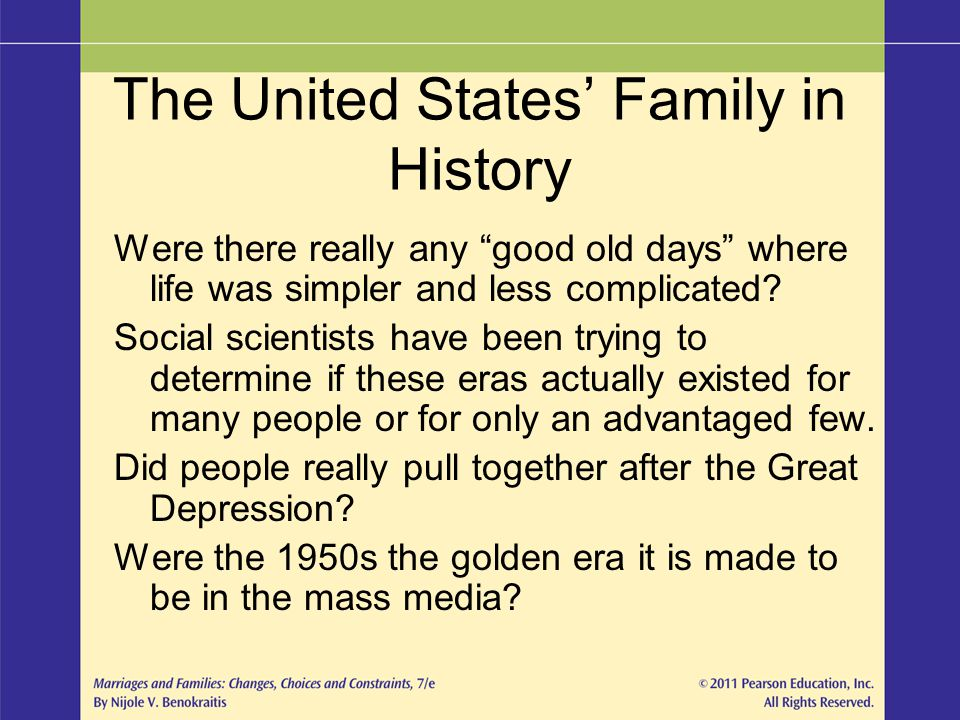 The United States' Family in History