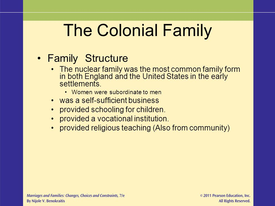 The Colonial Family Family Structure
