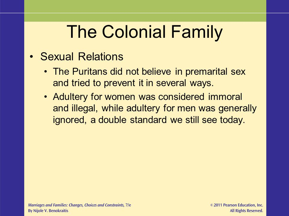 The Colonial Family Sexual Relations