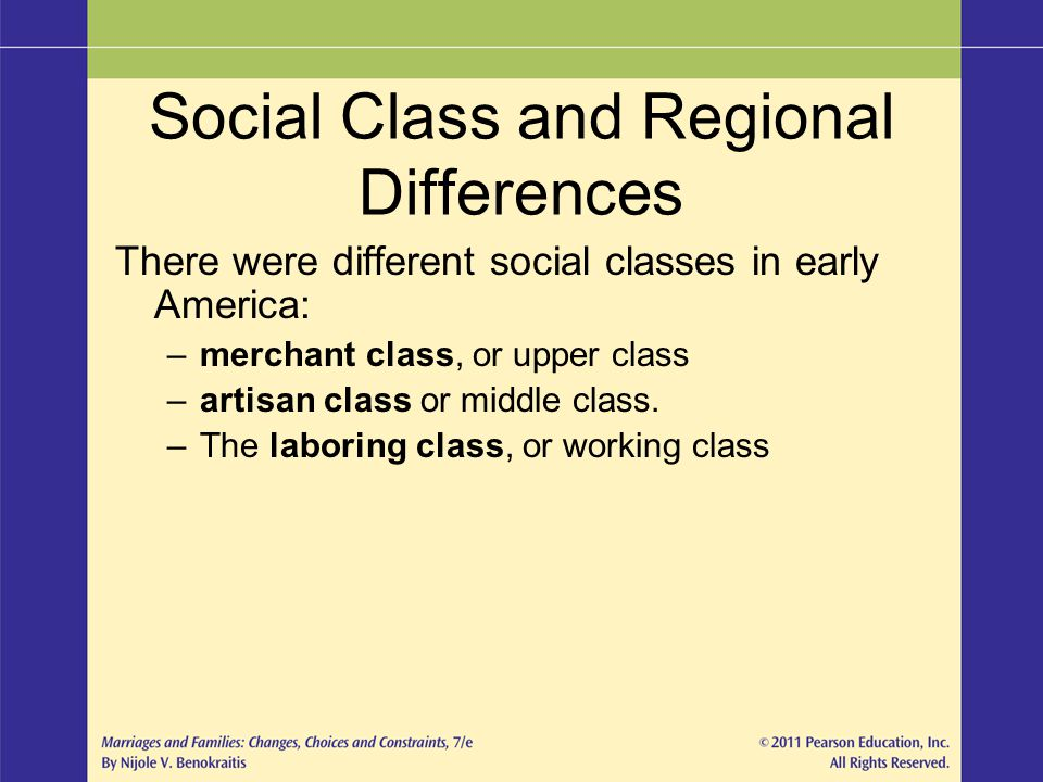 Social Class and Regional Differences