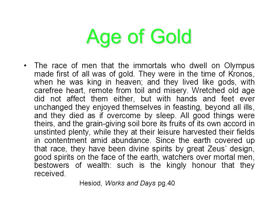 Age of Gold