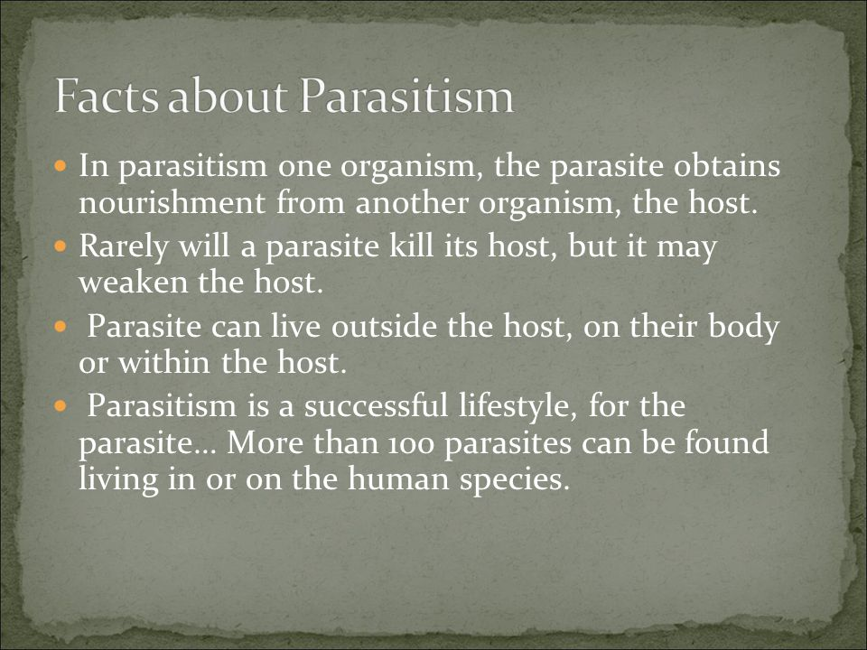 Facts about Parasitism