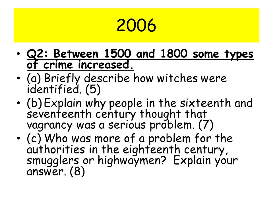 2006 Q2: Between 1500 and 1800 some types of crime increased.