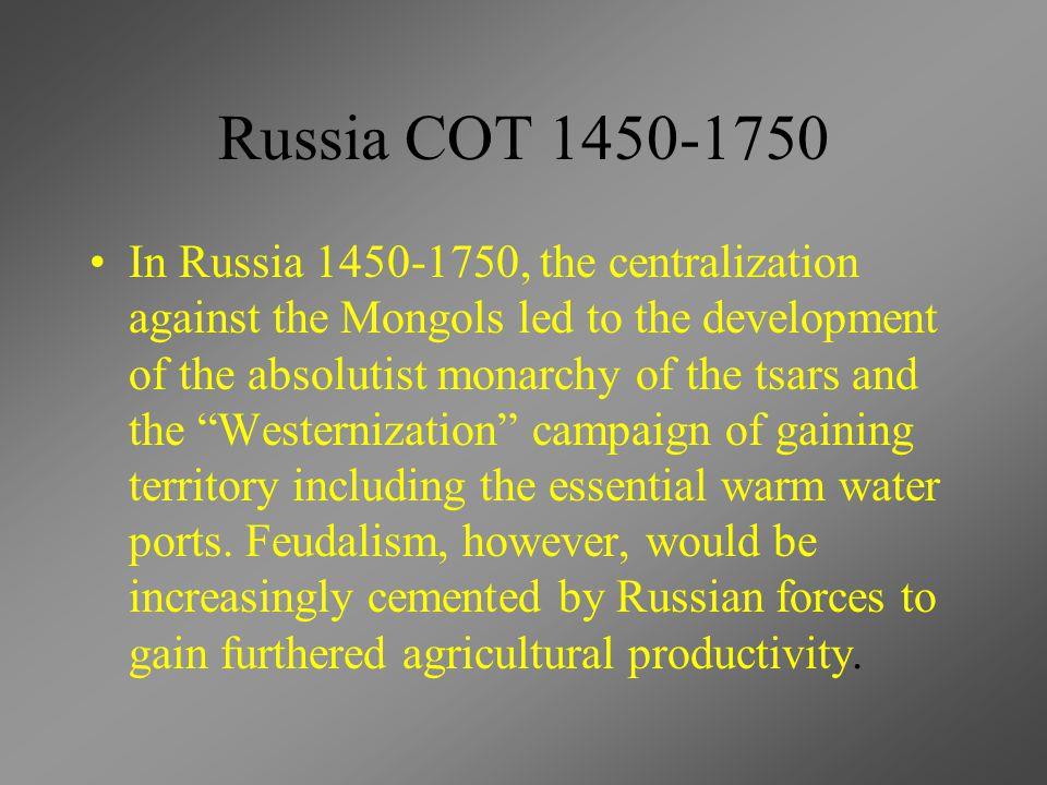 Russia COT 1450-1750