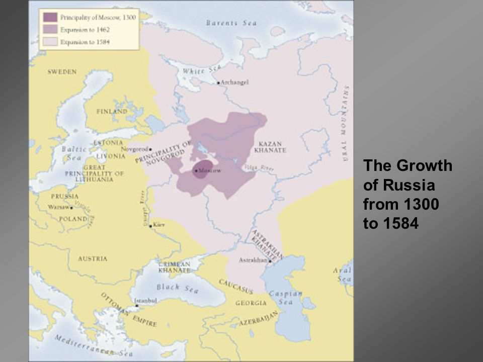 The Growth of Russia from 1300 to 1584