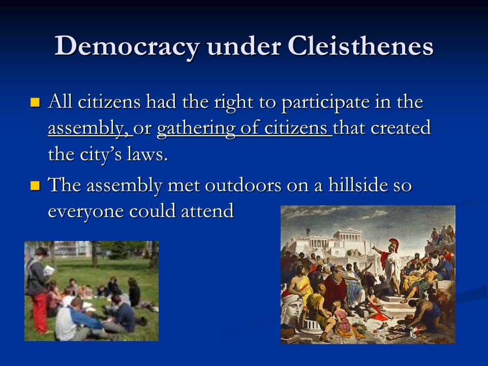 Democracy under Cleisthenes