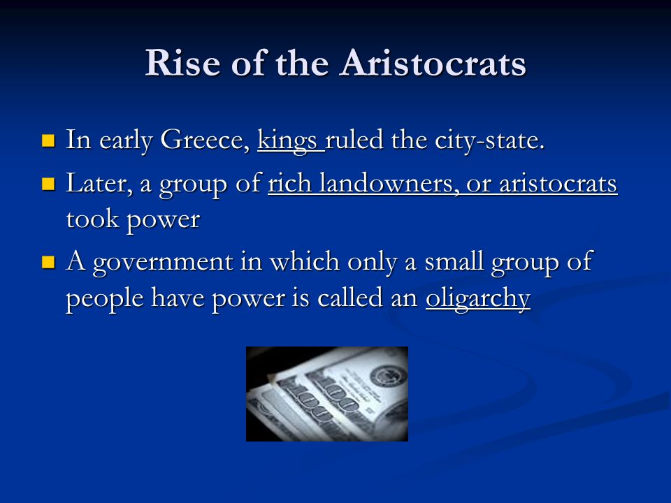 Rise of the Aristocrats
