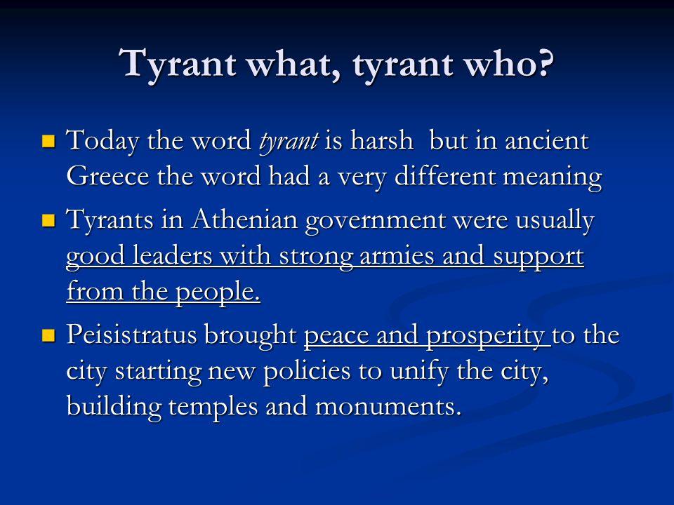 tyrannis des peisistratos