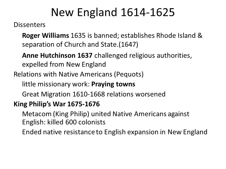 New England 1614-1625