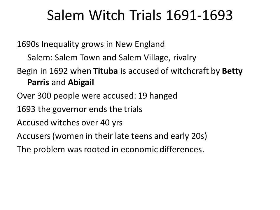 Salem Witch Trials 1691-1693