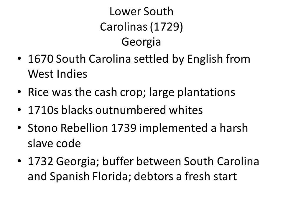 Lower South Carolinas (1729) Georgia