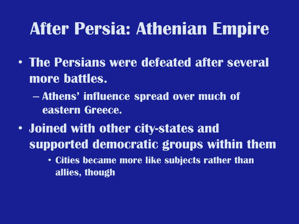 After Persia: Athenian Empire