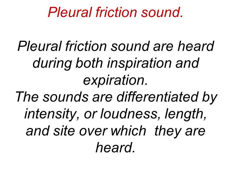 Pleural friction sound