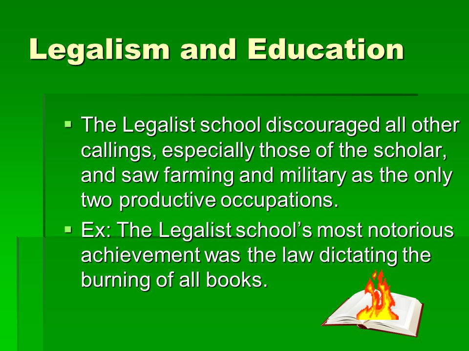 Legalism and Education