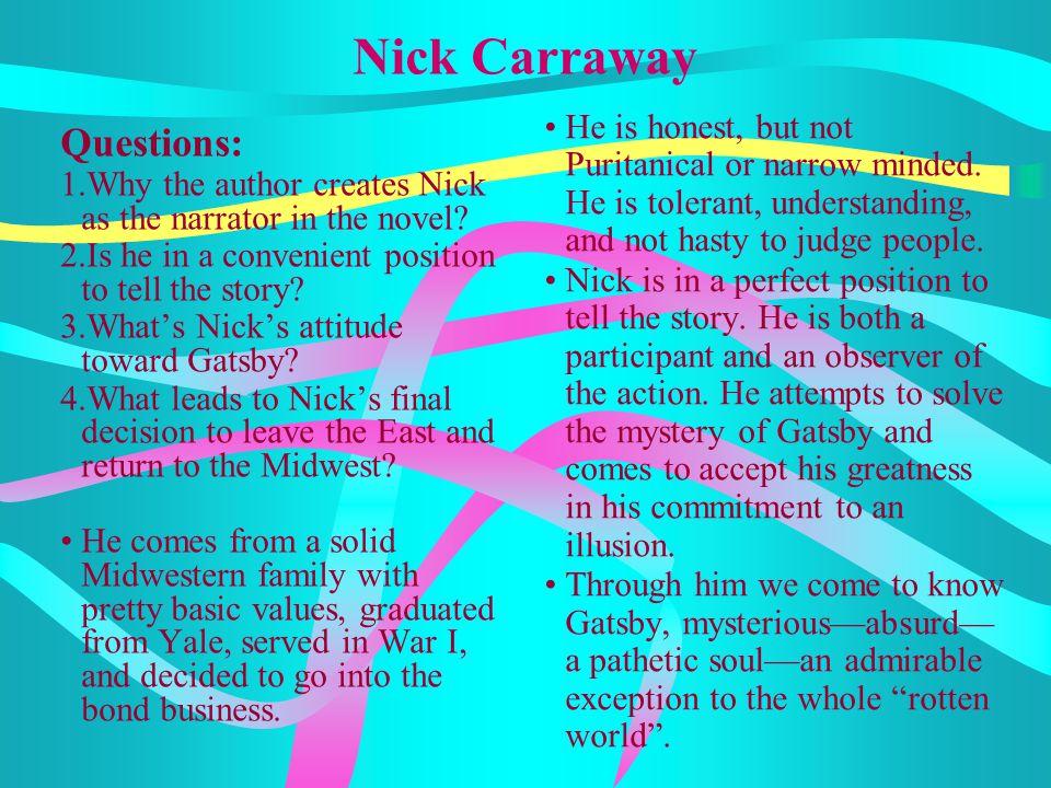 Nick Carraway Questions:
