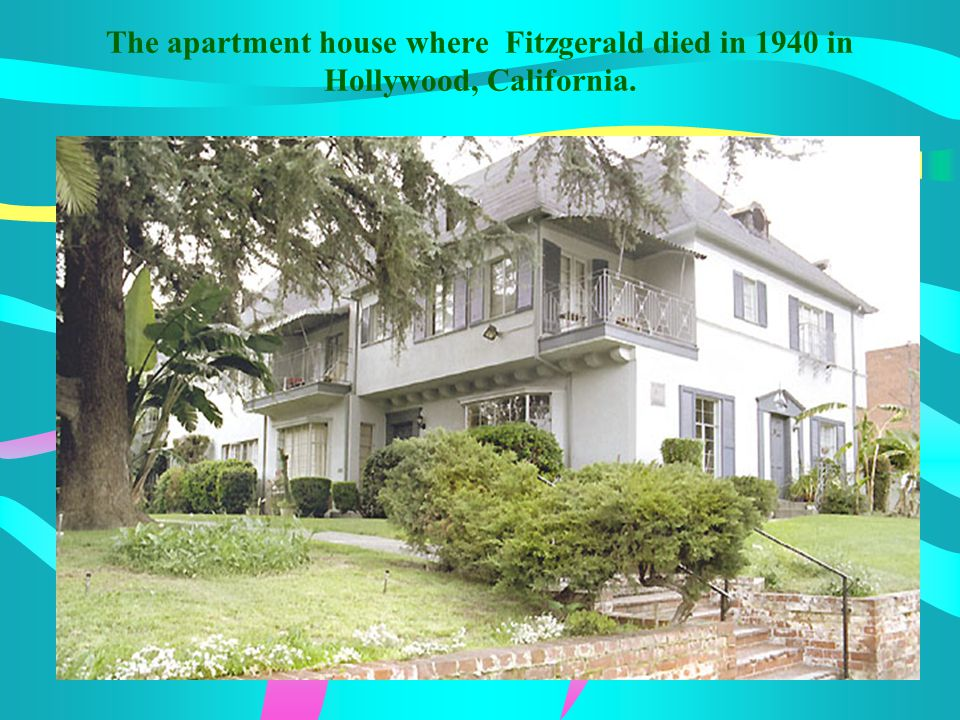 The apartment house where Fitzgerald died in 1940 in Hollywood, California.