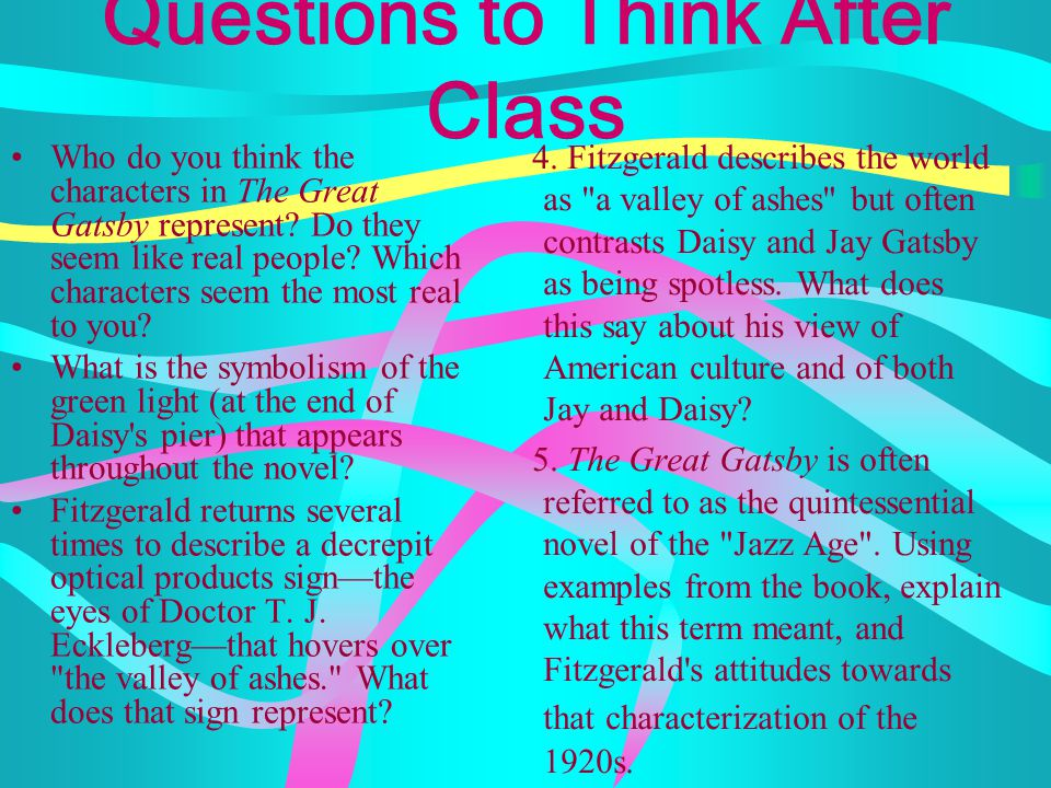 Questions to Think After Class