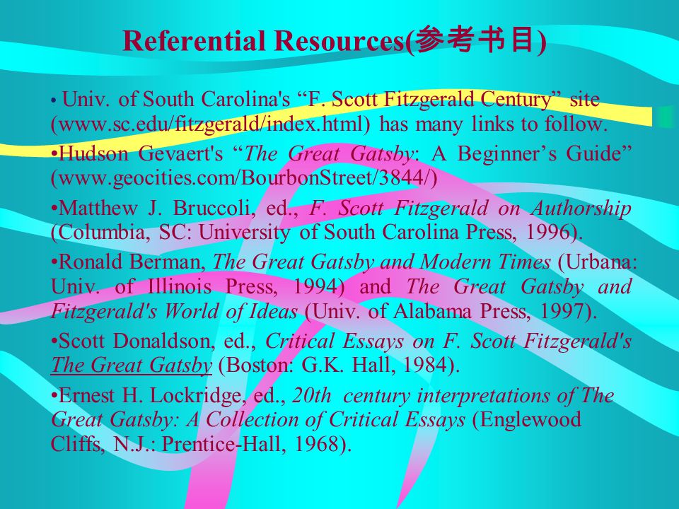 Referential Resources(参考书目)