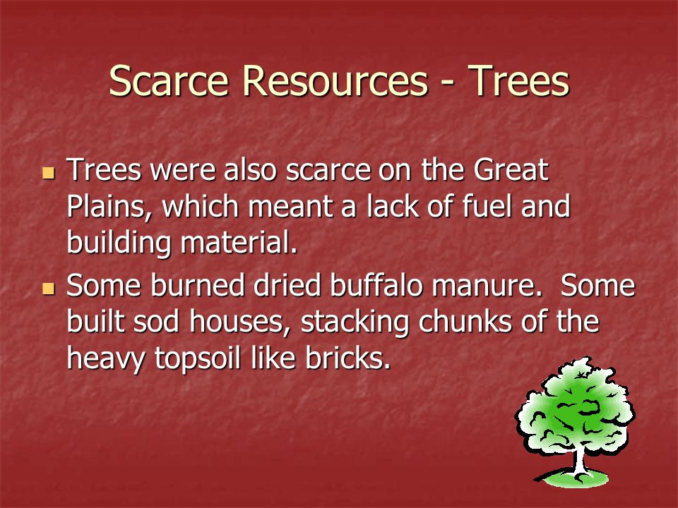 Scarce Resources - Trees