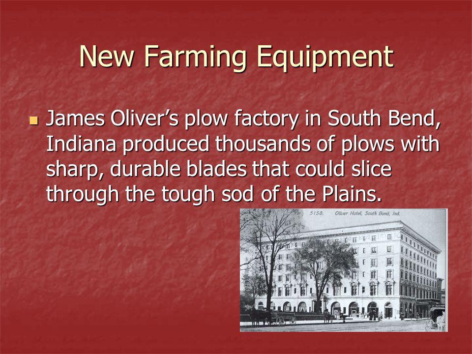 New Farming Equipment