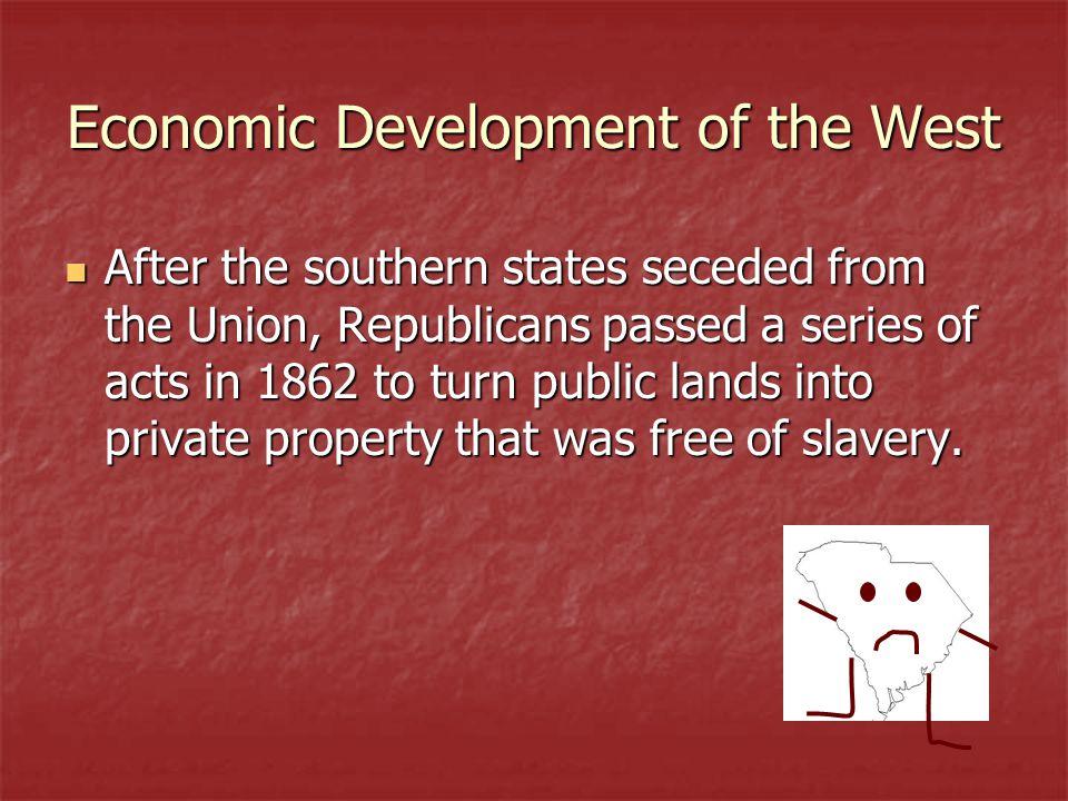 Economic Development of the West