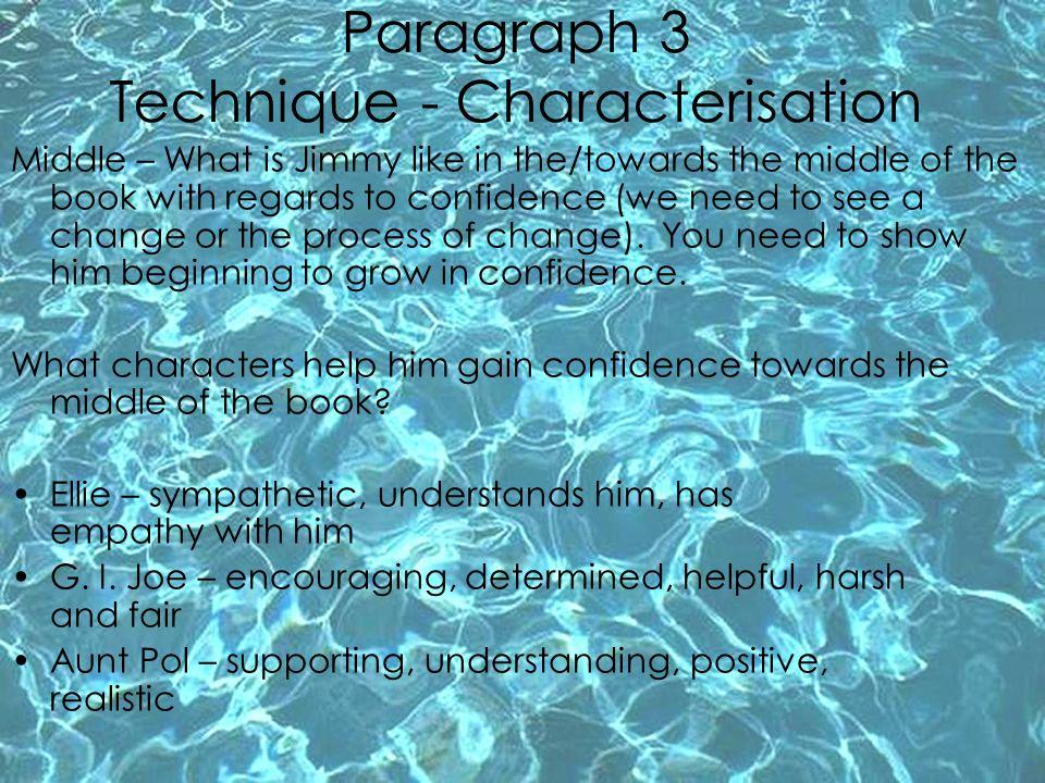 Paragraph 3 Technique - Characterisation