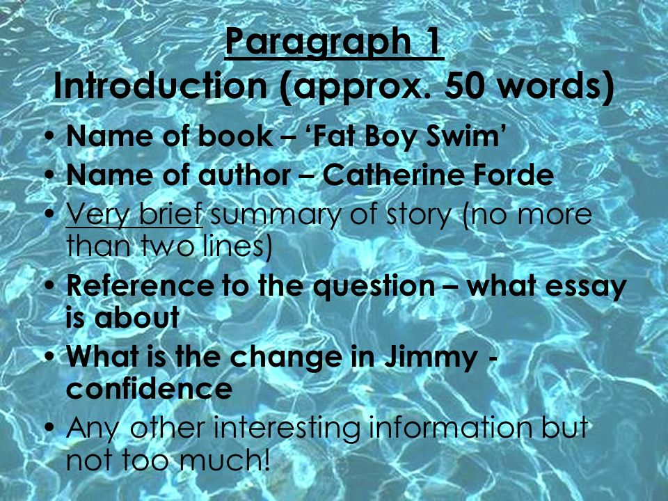 Paragraph 1 Introduction (approx. 50 words)