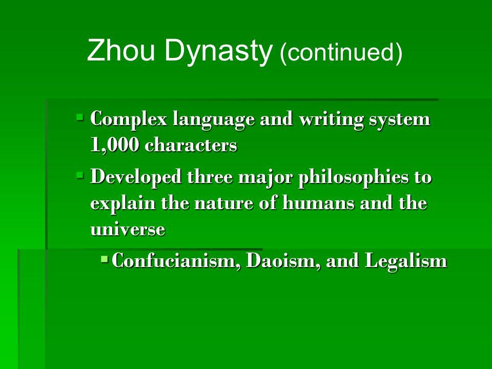Zhou Dynasty (continued)