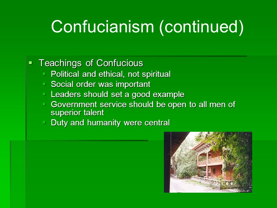 Confucianism (continued)
