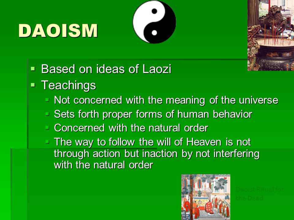 DAOISM Based on ideas of Laozi Teachings