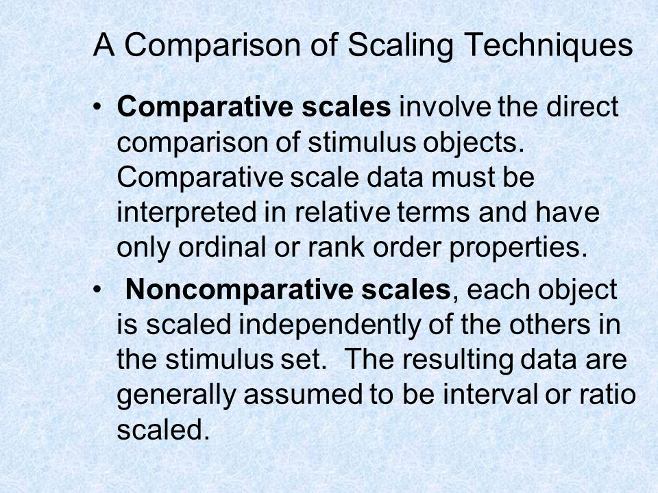 A Comparison of Scaling Techniques