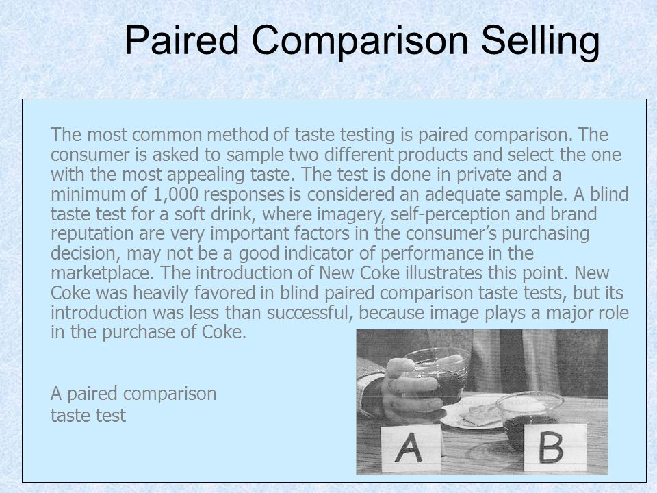 Paired Comparison Selling