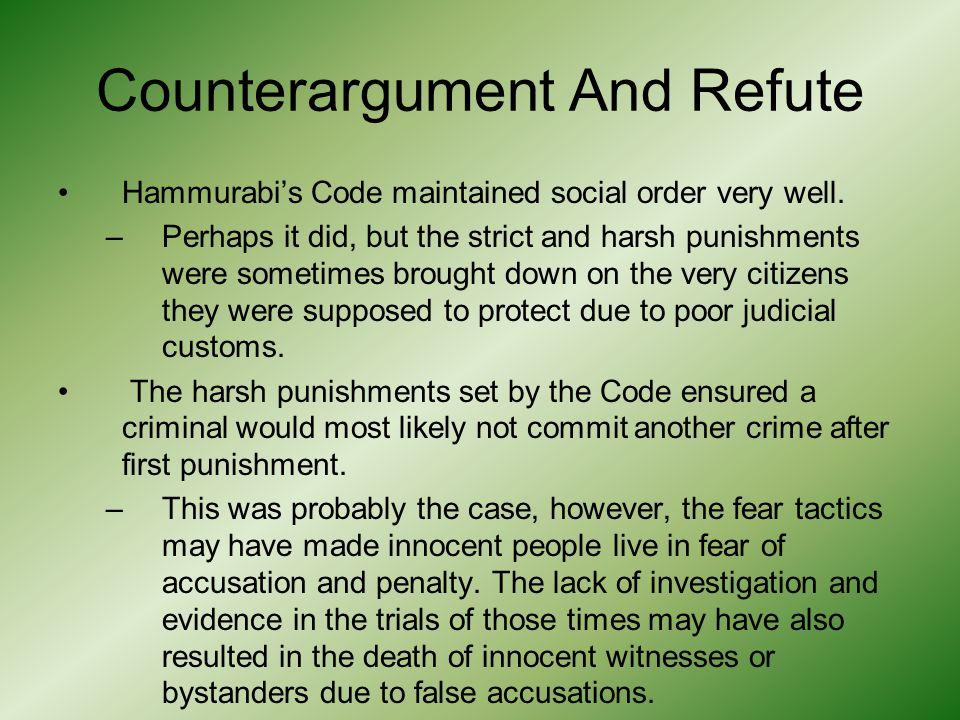 Counterargument And Refute