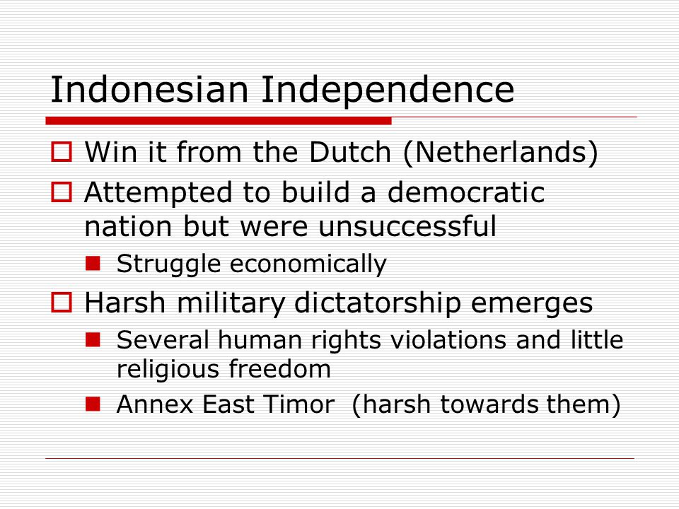 Indonesian Independence