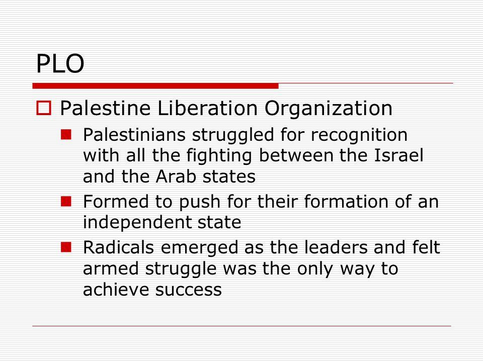 PLO Palestine Liberation Organization