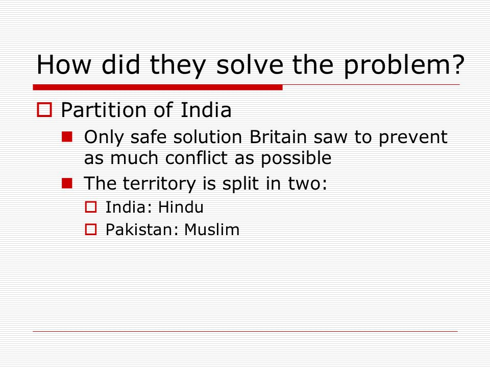 How did they solve the problem
