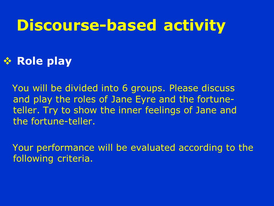 Discourse-based activity